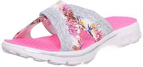 Flower Skechers Go White Performance Flip Flop Walk Fiji Women's pHZzpA