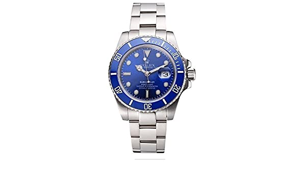 Amazon.com: Replica Rolex Submariner Blue Tachymeter Blue Dial Watch: Health & Personal Care