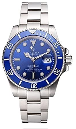 Amazon.com: Replica Rolex Submariner Blue Tachymeter Blue Dial Watch: Health & Personal Care
