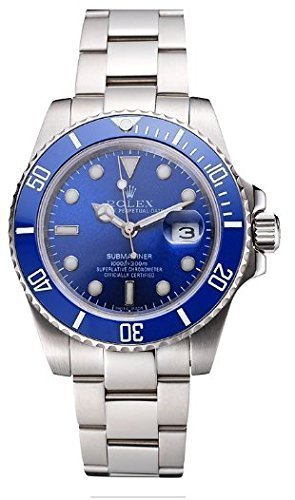 Replica Rolex Submariner Blue Tachymeter Blue Dial Watch