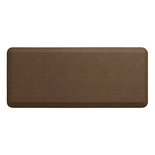 "NewLife by GelPro Anti-Fatigue Designer Comfort Kitchen Floor Mat, 20x48"", Grasscloth Khaki Stain Resistant Surface with 3/4"" Thick Ergo-foam Core for Health and Wellness"