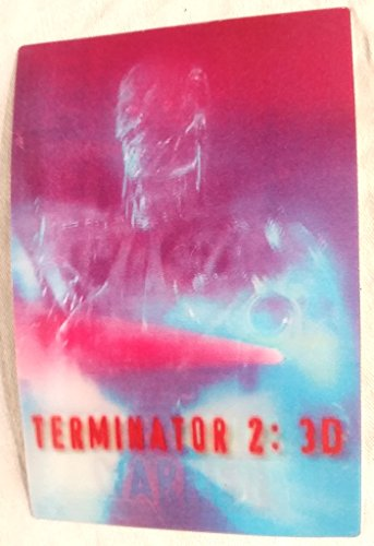 - Terminator 2 3D Lenticular Promo POST CARD 4 x 6 inches AND Lenticular Button