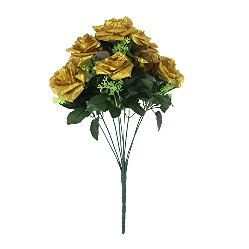 Silk//Artificial Flower Rose Spray//Stem,Bouquet,Memorial,Florists//Floral//Craft