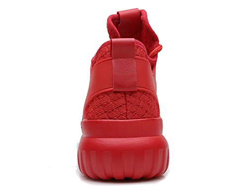 Molecole Femmes Casual Sneaker Ultralight Mesh Respirant Confort Running Sports Wallking Chaussures Taille 5.5-9b Rouge