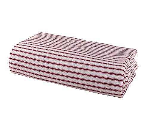 DELANNA Flannel Flat Sheet 100% Brushed Cotton 1 Top Sheet (66