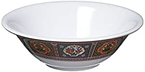 Thunder Group 12-Pack Peacock Collection Deep Bowl, 7-Inch Diameter, Red