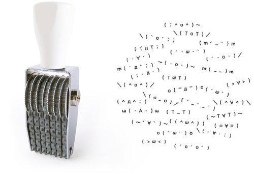 デジタル文化をアナログへ。顔文字スタンプ