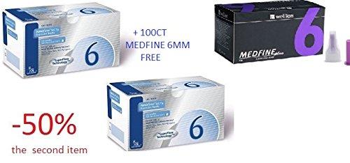 Novofine Pen 32G 6mm Promo Pack 200ct Plus 100CT MEDFINE 6MM for Free by Novofine