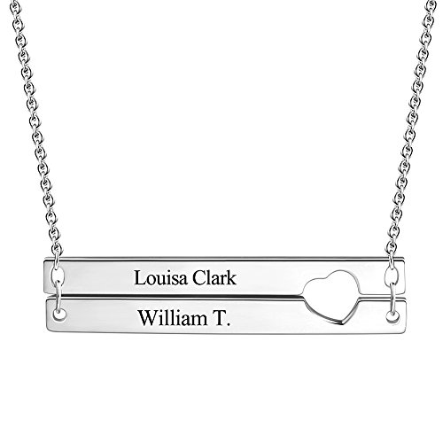 SOUFFEL Custom Name Necklace Sterling Silver Nameplate Engra