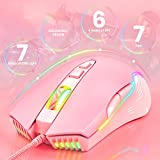ONIKUMA RGB Gaming Mouse Wired, USB Optical