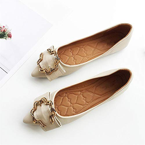 mouth comfortable soft shoes bottom shallow low shoes pointed shoes single 35 slip EU shoes heel work ladies flat non FLYRCX Foldable zqwU8Xt8