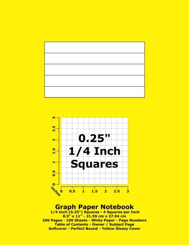 graph-paper-notebook-025-inch-1-4-squares-85-x-11-2159-cm-x-2794-cm-200-pages-100-sheets-white-paper