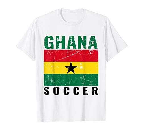 Ghana Ghanaian Flag T-Shirt Distressed Ghana Soccer Jersey