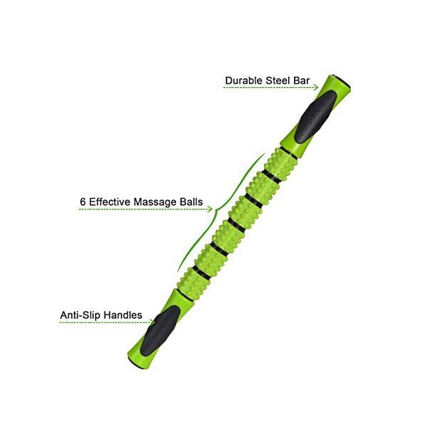 Odoland Foam Roller Kit 5-in-1, Kit di Rullo in Schiuma incl. Roller Stick, Palline per Massaggio - Kit di Rullo per… 4 spesavip