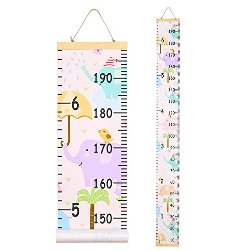 QtGirl Kids Growth Chart, Height Chart for Child Height Measurement Wall Hanging Rulers Room Decoration for Girls, Boys, Toddlers (Best Toddler Boy Rooms)