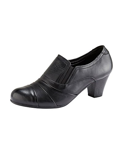 Cotton Traders Womens Ladies Casual Leather Panelled Trouser Comfort Shoes Black