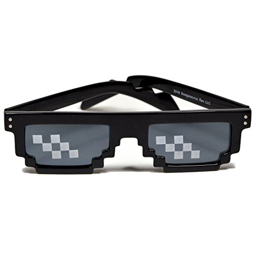 Deal With It Glasses - Thug Life 8-Bit MLG Pixelated Sunglasses by Swagasaurus Rex