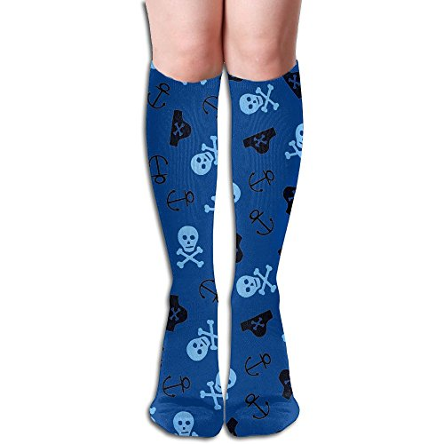 CXCcoco Pirates Crazy Womens Socks Thign High Long Boot Socks Look Knee High Pirate Boots