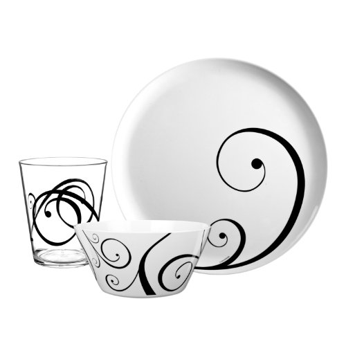 Zak Designs 12-Piece Urbana Dinnerware Set
