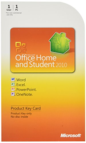 Microsoft Office Home & Student 2010 Key Card - 1PC/1User (Microsoft Office 2010 Home And Student 3 User)