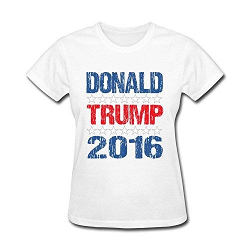 JustLikeSun Women's Donald Trump 2016 T Shirt