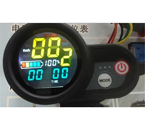 LCD DISPLAY with shifter throttle for electric bike scooter motorcycle ATV tricycle 24v36v48v Speedometer manual control (Inner Kick Panel)
