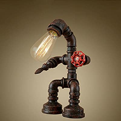 China Palaeowind Country Edison Retro Personality Water Pipe Lamp Robot Lamp