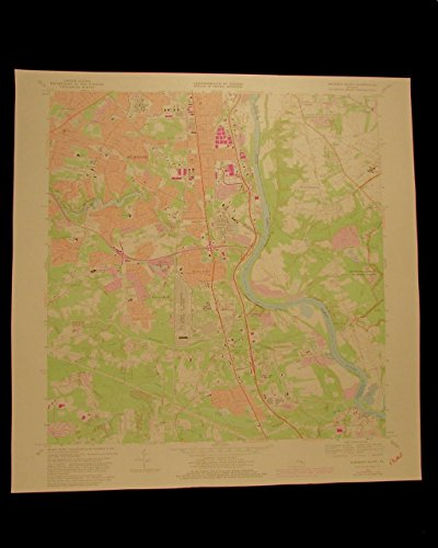drewrys-bluff-virginia-vintage-1981-richmond-va-usgs-topographical-chart