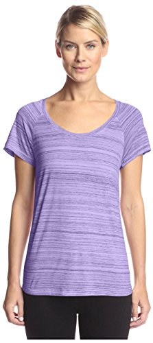 NYDJ Women's Etched Stripe Tee, Orchid, S