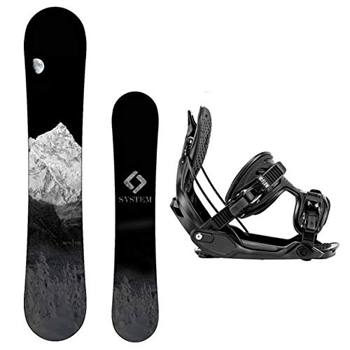 (Package-System MTN CRCX Snowboard-163 cm Wide-Flow Alpha MTN Snowboard Bindings-Large)
