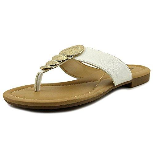 Alfani Femmes Harlquin Split Toe Casual T-strap Sandales Blanc Lézard