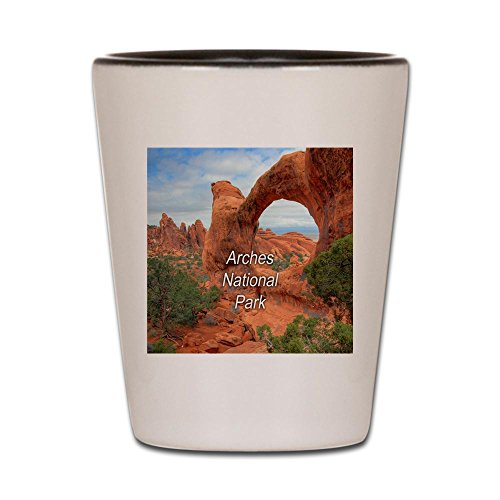 (CafePress - Arches National Park - Shot Glass, Unique and Funny Shot Glass)