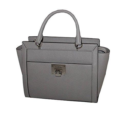 Michael Kors TINA LARGE TOP ZIP Women's Shoulder Handbag SATCHEL (Pearl (Michael Kors Top Zip Shoulder Bag)