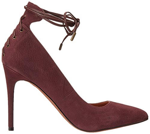 Nine West Ebba Samtkleid Pump Dark Brown/Dark Brown Leather