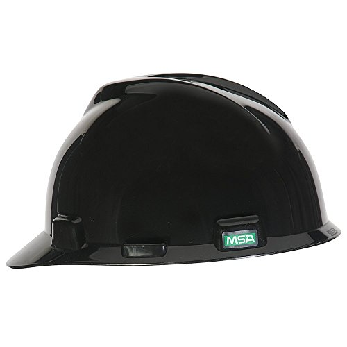 MSA 492559 V-Gard Slotted Cap with Fas-Trac Suspension, Standard, Black