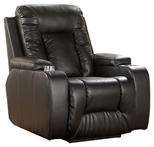 Ashley Furniture Signature Design - Matinee Recliner - Power Reclining Chair - Eclipse Black