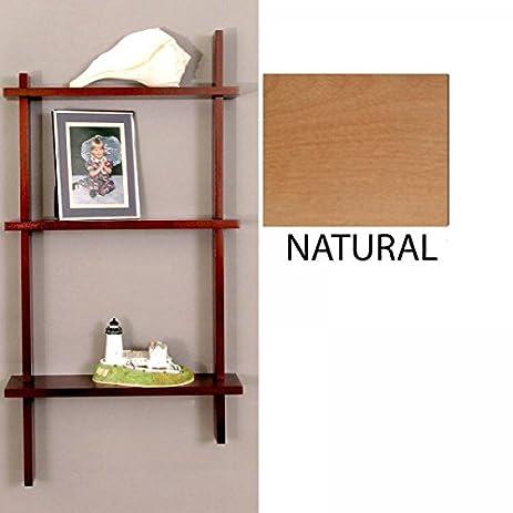 Knick Knack Shelves Three Tier Birch Natural