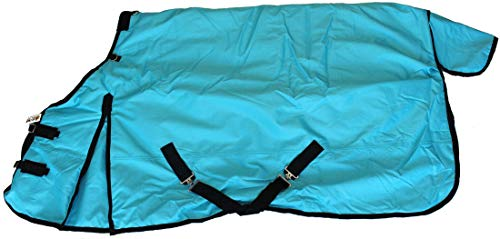 AJ Tack Wholesale 1200D Horse Turnout Blanket Heavy Weight Water Proof 400g Fill Turquoise ()