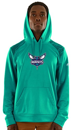 Athletic Hood Majestic (Majestic Charlotte Hornets Mens Team Color Armor Hoody (Medium))