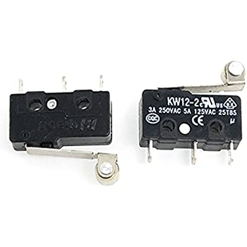 uxcell 2 Pcs Micro Limit Switch Roller Arm Subminiature SPDT Snap Action LOT