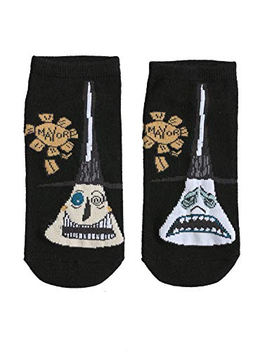 The Nightmare Before Christmas Mayor Of Halloween Town Faces No-Show Socks ()