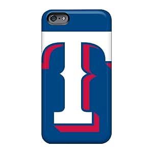 Bumper Hard Cell-phone Cases For Apple Iphone 6 (DVH1795dNGI) Unique Design Trendy Texas Rangers Logo Pattern