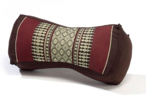 Thai bone pillow cushion neck pillow kapok100% filled Brown by Satunsell