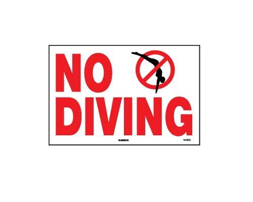 Texas State Specific - No Diving Sign by National Stock Sign Co.