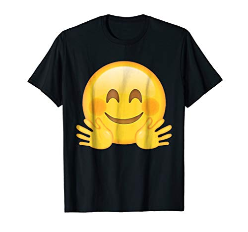 Hugging Hands Blush Face Emoji T Shirt