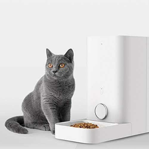 PETKIT Automatic Cat Feeder, 2.8 Liter Auto Pet Feeder Dispenser Special for Cat Doggy, Wi-Fi Enabled App for Android, iOS, Timer Programmable, Food Never Stuck, Food Keeping Fresh Smart Pet Feeder (Auto Wifi)