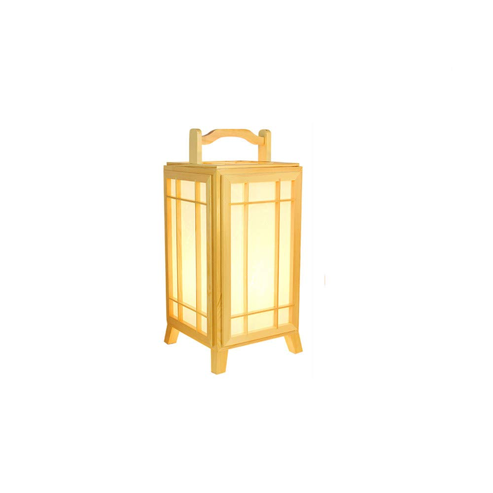 YU-K Lámpara de mesa de tatami de estilo japonés dormitorio ...