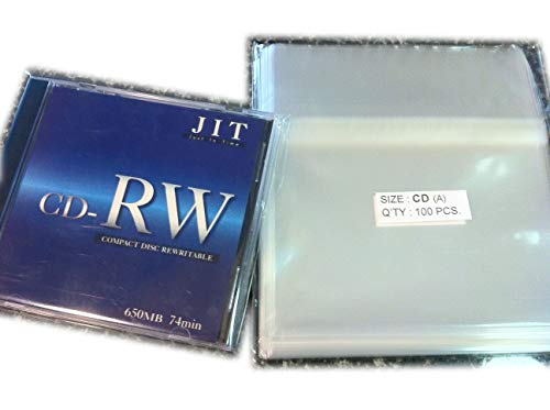 100 Pcs Standard CD Jewel Case Cello/Cellophane Bags (by UNIQUEPACKING)