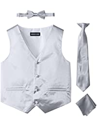 Big Boys' Boys Satin 4 Piece Vest Set