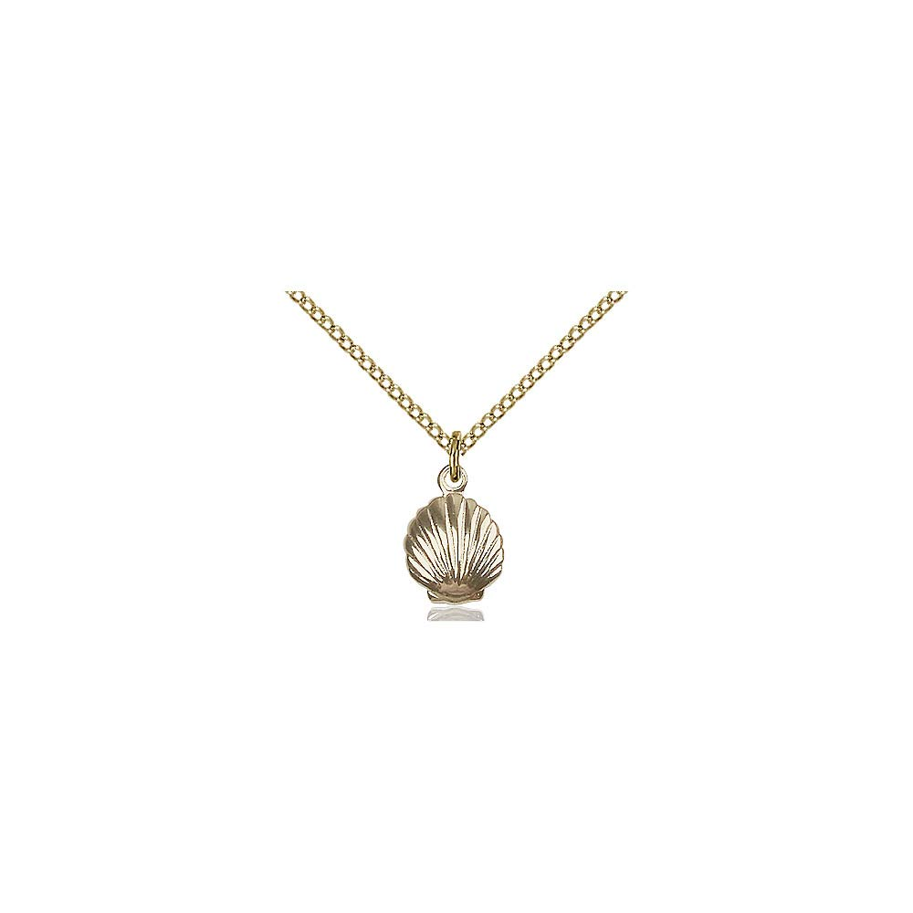 DiamondJewelryNY 14kt Gold Filled Shell Pendant